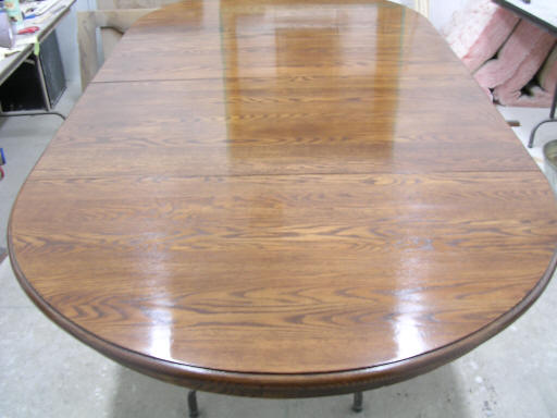 Oak Dining Table After Refinishing