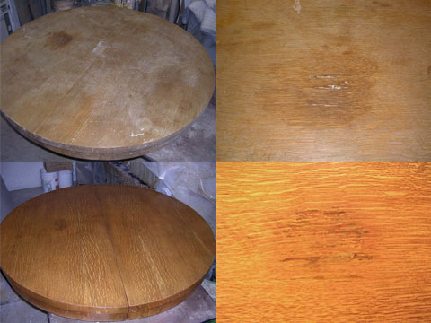Dining Table Repair And Refinish